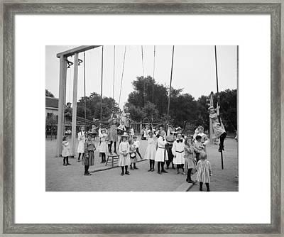 Girls Playground 1899 Framed Print by Steve K