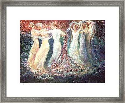 Girl's Roundelay Framed Print