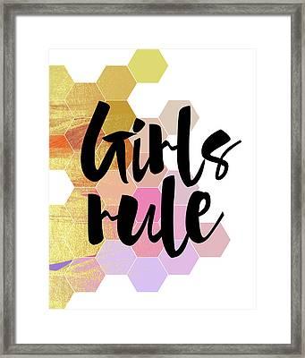 Girls Rule Framed Print by Amy Cummings