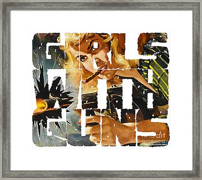 Girls With Guns Logo Framed Print by Sasha Keen