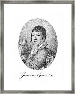 Girolamo Crescentini (1762-1846) Framed Print by Granger