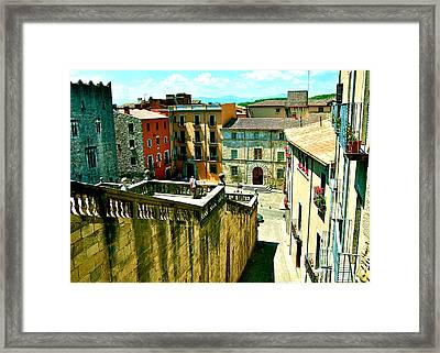 Girona Steps Framed Print by HweeYen Ong