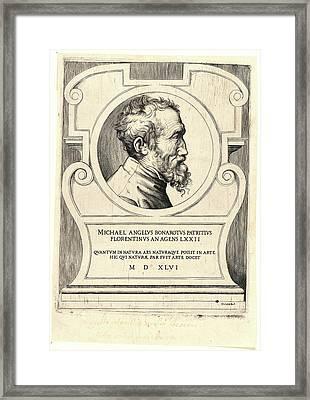Giulio Bonasone Italian, Ca. 1510 - After 1576. Portrait Framed Print