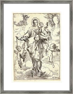 Giulio Carpioni Italian, 1613 - 1678. The Virgin Framed Print by Litz Collection