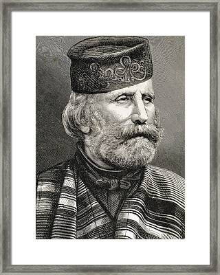 Giuseppe Garibaldi Framed Print by Bridgeman Images
