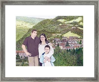 Giusy Mirko And Simone In Valle Castellana Framed Print by Albert Puskaric