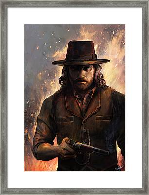 Give 'em Hell Framed Print by Steve Goad