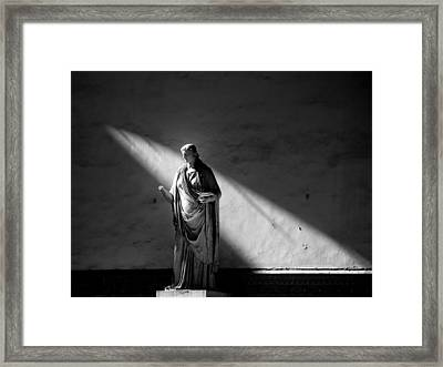 Give Light And People Will Find The Way .. Framed Print