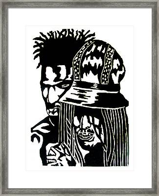 Give Me Strength Framed Print by Patrick Carrington