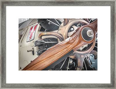 Give Props Vintage Aircraft Framed Print by Rich Franco