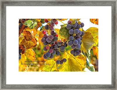 Give Thanks Always Framed Print by Lynn Hopwood