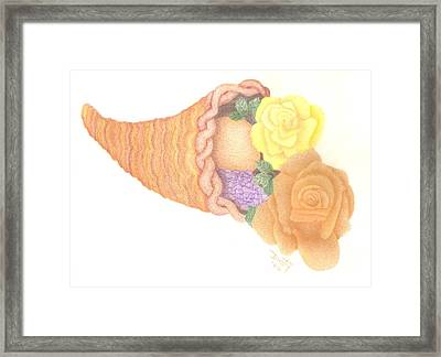 Give Thanks Framed Print by Dusty Reed