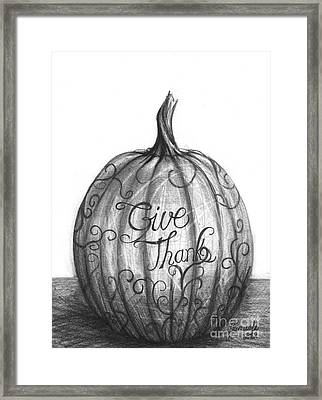 Framed Print featuring the drawing Give Thanks by J Ferwerda