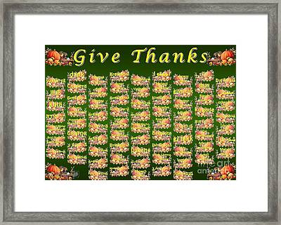 Give Thanks Framed Print by J McCombie
