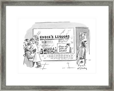 Give The Gift Of Alcohol Framed Print by Mike Twohy