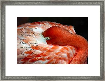 Give You Rest  Framed Print