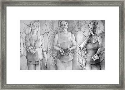 Giver Series Framed Print by Julie Orsini Shakher