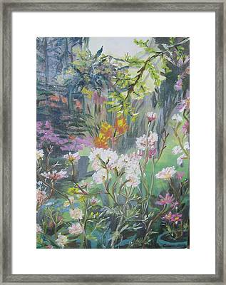 Framed Print featuring the painting Giverny In Autumn by Julie Todd-Cundiff