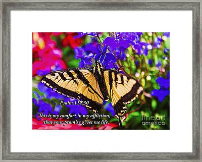 Gives Me Life Framed Print by Janice Rae Pariza