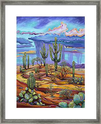 Giving Back To The Desert Framed Print by Alexandria Winslow