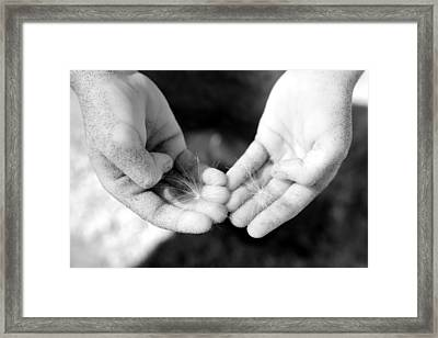 Giving Hands Framed Print