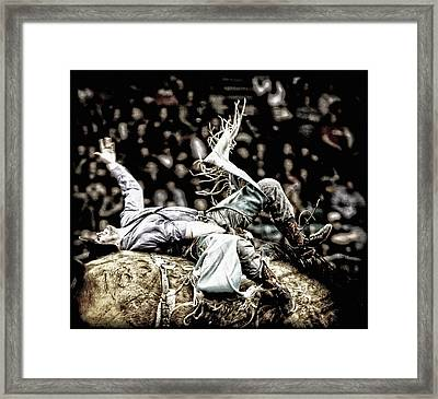 Giving It Everything Framed Print by Lincoln Rogers