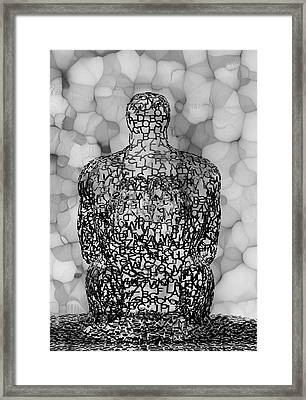 Giving Thought B / W Framed Print