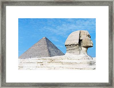 Framed Print featuring the photograph Giza by Cassandra Buckley