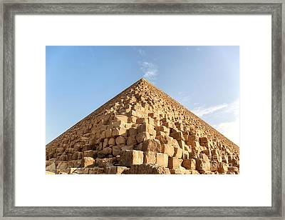 Giza Pyramid Detail Framed Print by Jane Rix