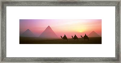 Giza Pyramids Egypt Framed Print by Panoramic Images