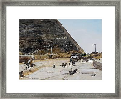 Gizeh-egypt Framed Print