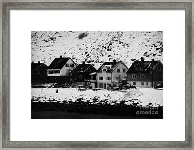 Gjenreisingshus Apartment Houses Strandgata Havoysund Finnmark Norway Framed Print by Joe Fox