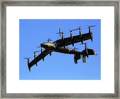 Gl-10 Greased Lightning Liftwing Aircraft Framed Print