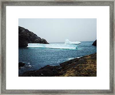 Glacial Beauty Framed Print