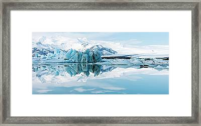 Glacial Coastal Landscape Framed Print by Jeremy Walker