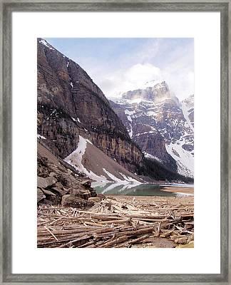 Glacial Debris Framed Print by Jenny Hudson
