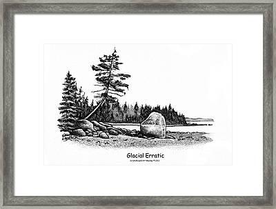 Glacial Erratic Framed Print