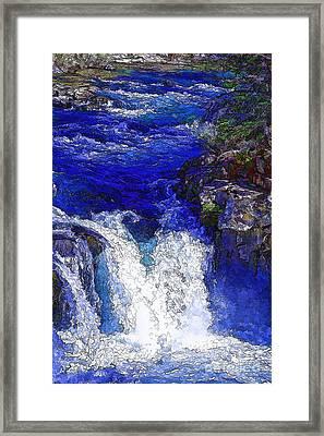 Glacial Flow-2 Framed Print