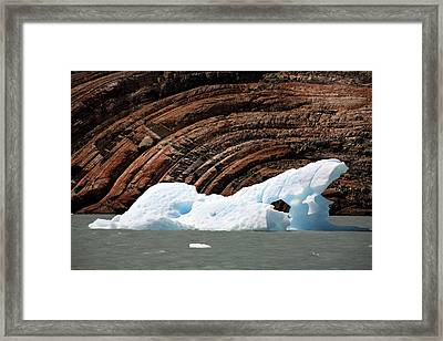 Glacial Groove Marks Framed Print by Steve Allen/science Photo Library