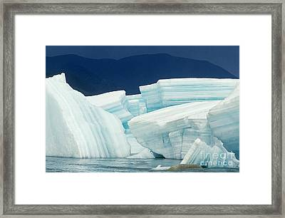 Glacial Ice Framed Print by Art Wolfe