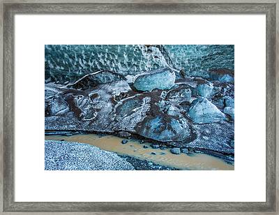 Glacial Ice Cave, Fallsjokull Framed Print