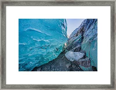 Glacial Ice Cave, Svinafellsjokull Framed Print