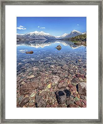 Glacial Lake Mcdonald Framed Print by Aaron Aldrich