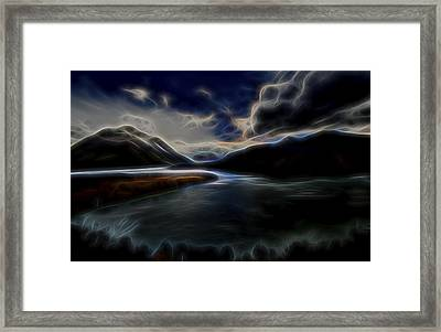 Framed Print featuring the digital art Glacial Light 1 by William Horden