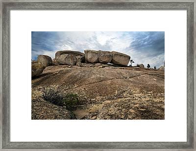 Glacial Monolith Framed Print