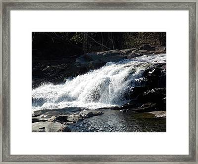 Glacial Potholes Falls Framed Print by Catherine Gagne