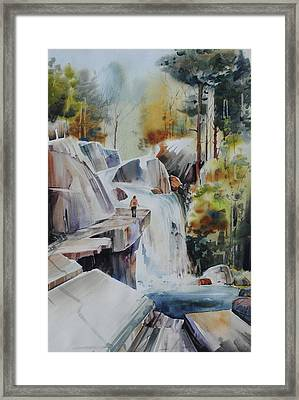 Glacial Quarries Framed Print