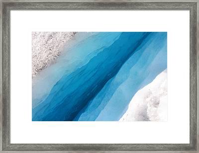 Glacial Rift Framed Print