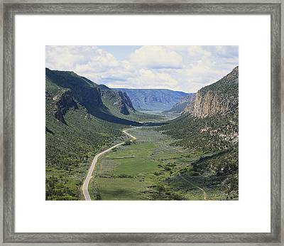 Glacial Valley In Colorado Framed Print by Francois Gohier