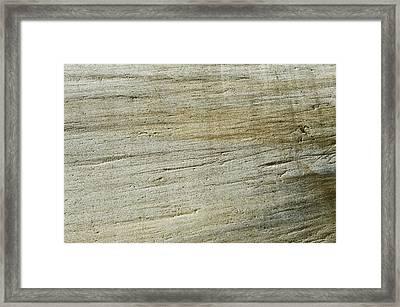 Glacially Eroded Granite Bedrock Framed Print by Kaj R. Svensson